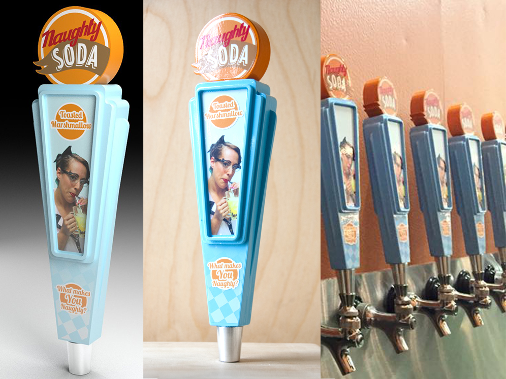 Naughty Soda Beer Tap Handles