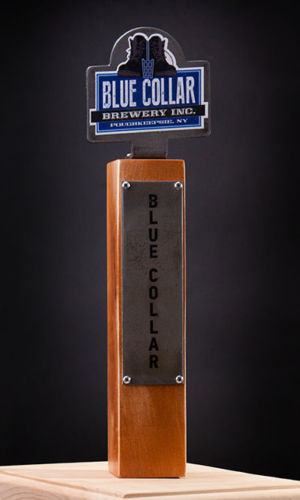 Blue Collar Wood Printed Applique Beer Tap
