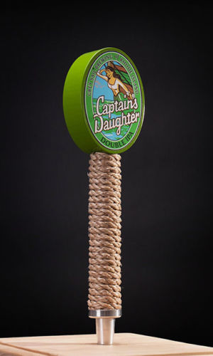 Grey Sail Wooden Beer Taps with Applied Rope and Graphics