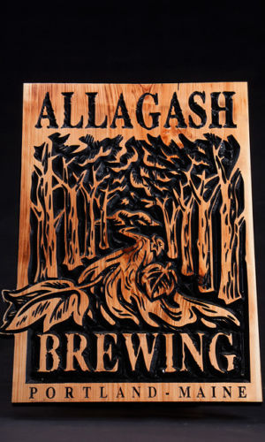 Allagash Brewing Wooden Sign